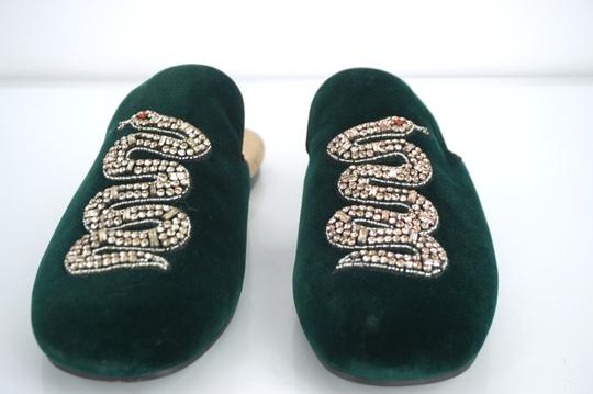 Gucci Slipper Party Emerald Classic Logo Green Mules Image 7