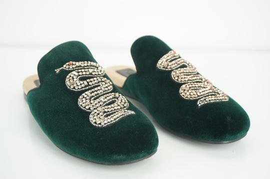 Gucci Slipper Party Emerald Classic Logo Green Mules Image 8
