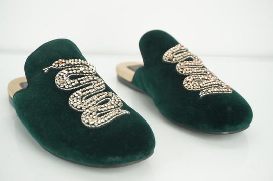 Gucci Slipper Party Emerald Classic Logo Green Mules Image 9