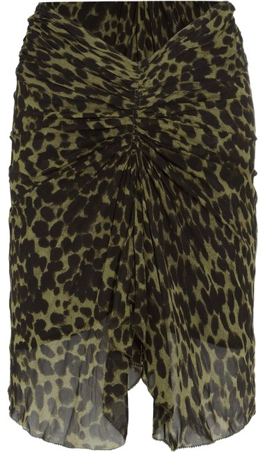Preload https://img-static.tradesy.com/item/24015415/isabel-marant-green-coleen-ruched-leopard-print-crepe-miniskirt-size-8-m-29-30-0-3-650-650.jpg