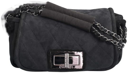 Preload https://img-static.tradesy.com/item/24015422/chanel-255-reissue-classic-flap-shearling-quilted-suede-black-leather-shoulder-bag-0-2-540-540.jpg
