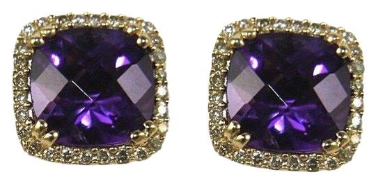 Preload https://img-static.tradesy.com/item/24015430/purple-cushion-amethyst-and-diamond-halo-stud-14k-yg-390ct-earrings-0-1-540-540.jpg