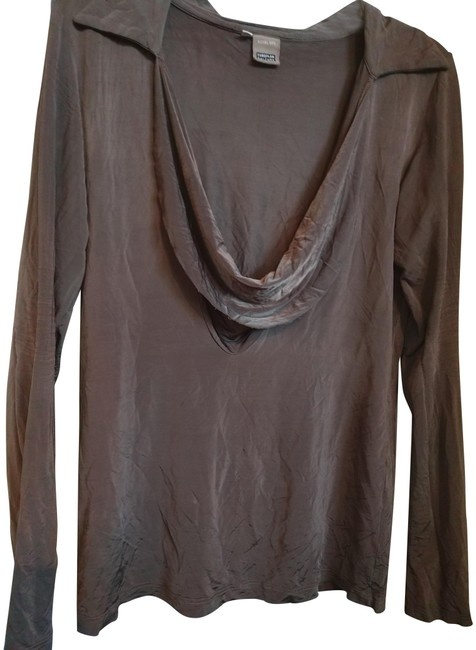 Preload https://img-static.tradesy.com/item/24015604/taupe-s-european-culture-silky-cowneck-blouse-tunic-size-6-s-0-1-650-650.jpg