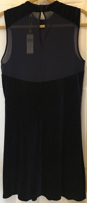 BCBGeneration Shimmer Sleeveless Illusion Sheer Back New With Tags Dress