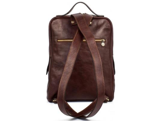 Time Resistance Leather Leather Backpack