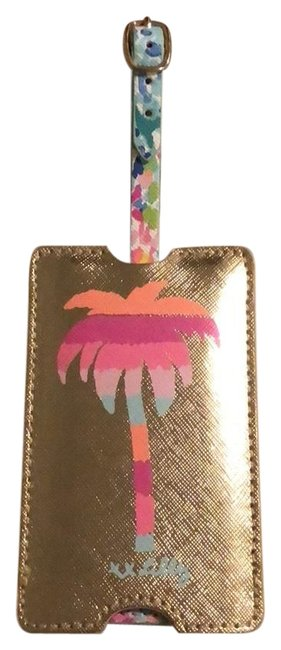 Lilly Pulitzer Gold Metallic Luggage Tag Lilly Pulitzer Gold Metallic Luggage Tag Image 1