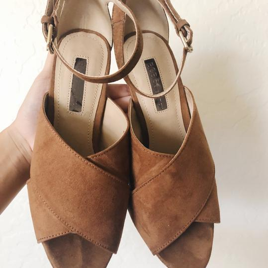 BCBGeneration tan Platforms