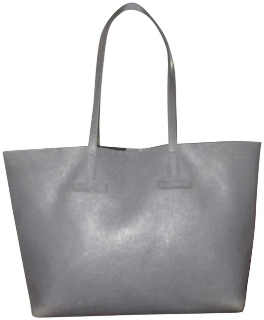 Tom Ford Medium T Leather Gray Tote Image 1