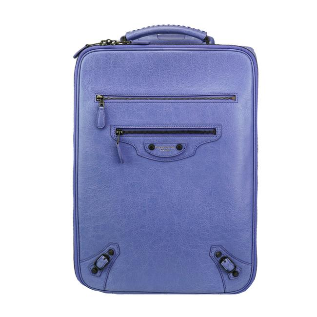 Item - Arena Wheeled Suitcase Rolling Carry-on Luggage Trolley Jacynthe Light Periwinkle Blue Leather Weekend/Travel Bag