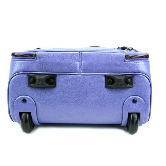 Balenciaga Luggage Carry On Suitcase Trolley Light Periwinkle Blue Travel Bag