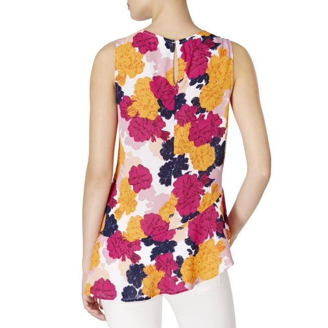 Maison Jules Flower Printed Top Pink