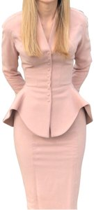 Thierry Mugler EUC French Couture, Hand-Sewn Blush Suit