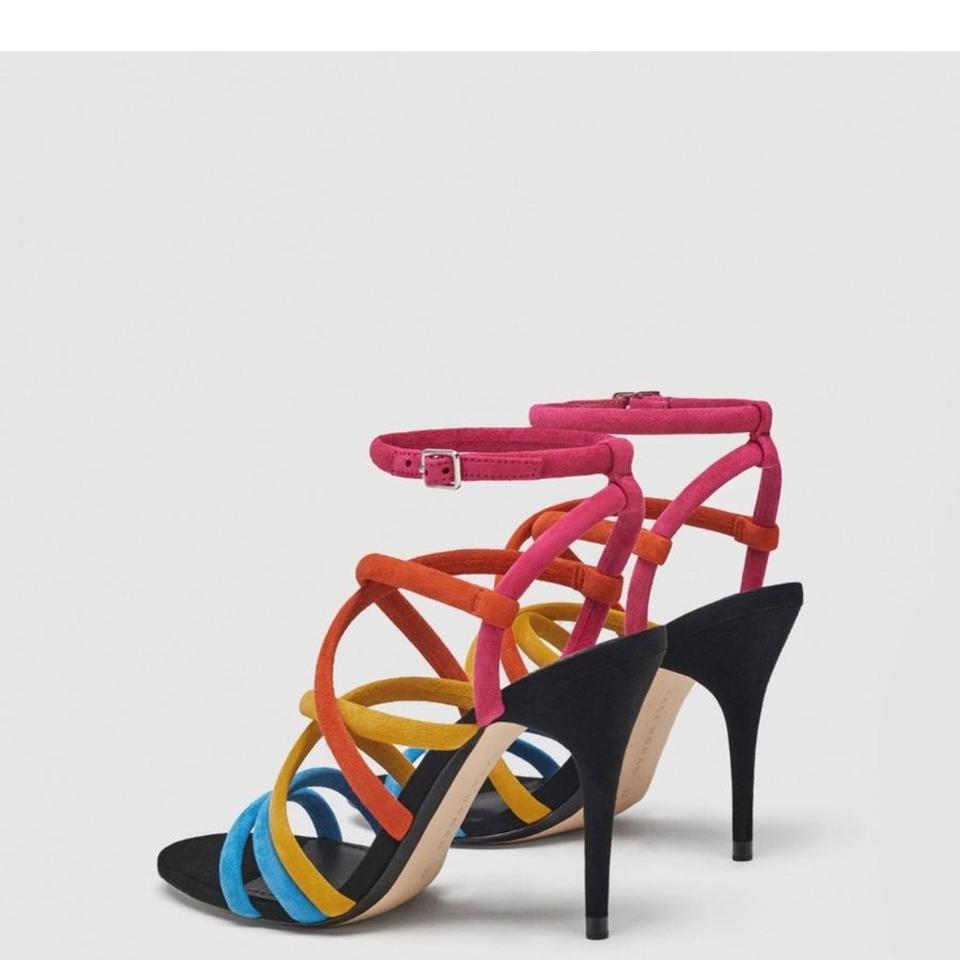 popular brand buy sale in stock Zara Multicolored High Heel Leather Sandals Size US 6 Regular (M, B)