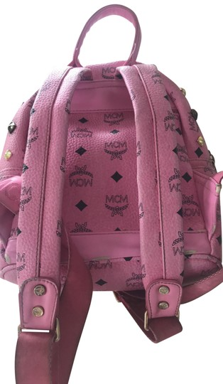 Preload https://img-static.tradesy.com/item/24015924/mcm-with-studs-pink-pink-lambskin-leather-backpack-0-1-540-540.jpg