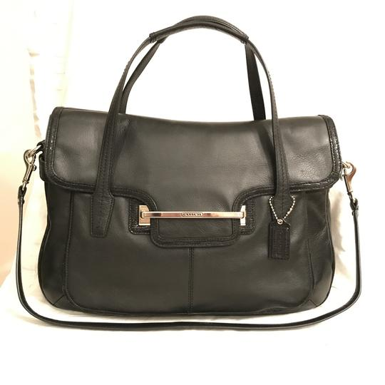 Preload https://img-static.tradesy.com/item/24015937/coach-rare-taylor-f26781-black-silver-leather-satchel-0-0-540-540.jpg