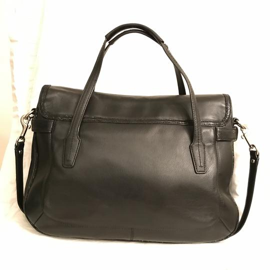 Coach Purse Handbag Shoulder Tote Designer Satchel in Black Silver