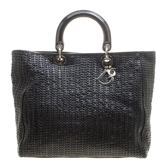 Preload https://img-static.tradesy.com/item/24015944/dior-lady-dior-woven-large-soft-black-leather-tote-0-0-540-540.jpg