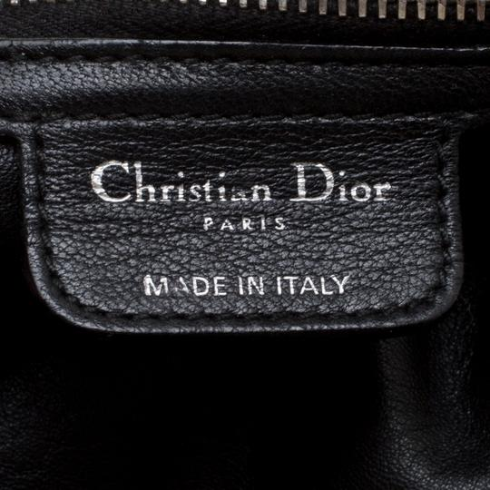 Dior Woven Leather Soft Tote in Black