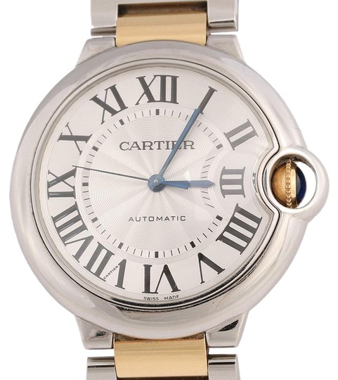 Preload https://img-static.tradesy.com/item/24015983/cartier-silver-stainless-steel-and-gold-two-tone-ballon-bleu-36mm-watch-0-1-540-540.jpg