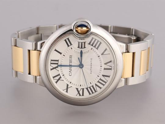 Cartier STAINLESS STEEL and GOLD TWO TONE BALLON BLEU WATCH 36MM