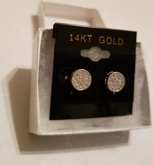 Xquisite by DESYGN MICRO PAVED DIAMONDS STUD EARRINGS