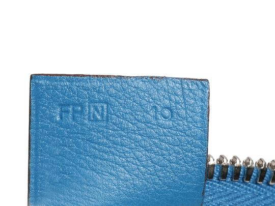 Hermès Palladium Buckle-and-tang Swift Handle Hr.p0806.09 Tote in Blue