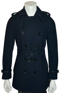 Burberry Mens Jacket Wool Double Breasted Trench Coat
