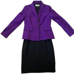 Le Suit Monte Carlo Contrast Trim Pocket Skirt Suit, Amethyst