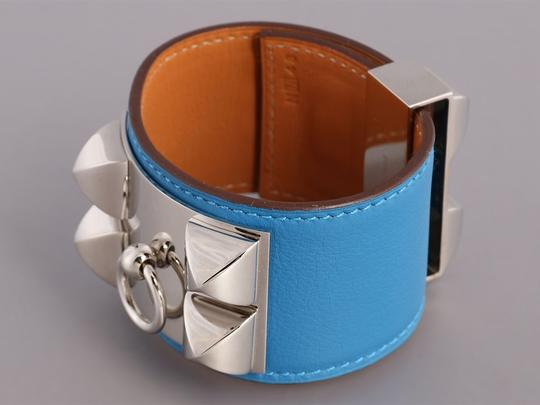 Hermès MYKONOS BLUE SWIFT LEATHER COLLIER DE CHIEN CDC BRACELET