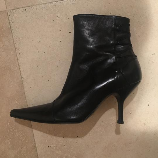 The Shoe Box Black Leather Boots