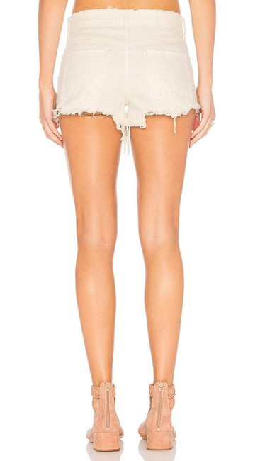 Free People Demin White Cut Off Shorts Ivory
