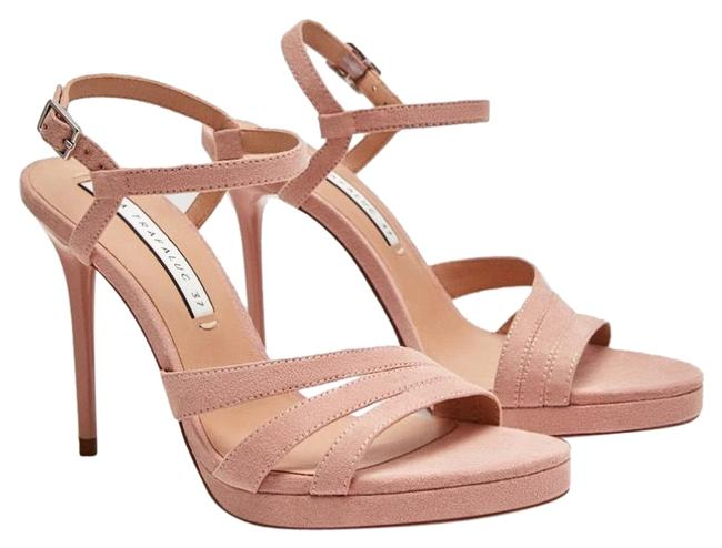 Zara Nude High Heel Strappy Sandals Size US 9 Regular (M, B) Zara Nude High Heel Strappy Sandals Size US 9 Regular (M, B) Image 1