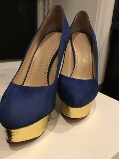 Charlotte Olympia Blue Pumps