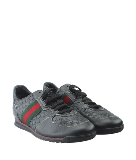 Gucci Leather Black Sneakers Gucci Athletic