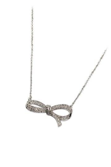 Preload https://img-static.tradesy.com/item/24016128/silver-crystal-ribbon-knot-necklace-0-0-540-540.jpg
