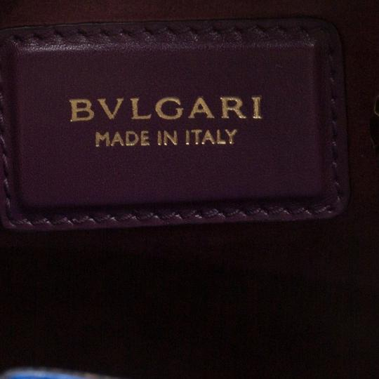 BVLGARI Leather Tote in Blue