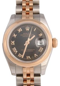 Rolex STAINLESS STEEL AND ROSE GOLD TWO TONE LADIES DATEJUST WATCH 26MM