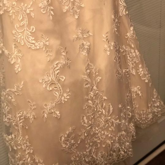 Private Label by G Champagne Lace Style 1658 Traditional Wedding Dress Size 14 (L)
