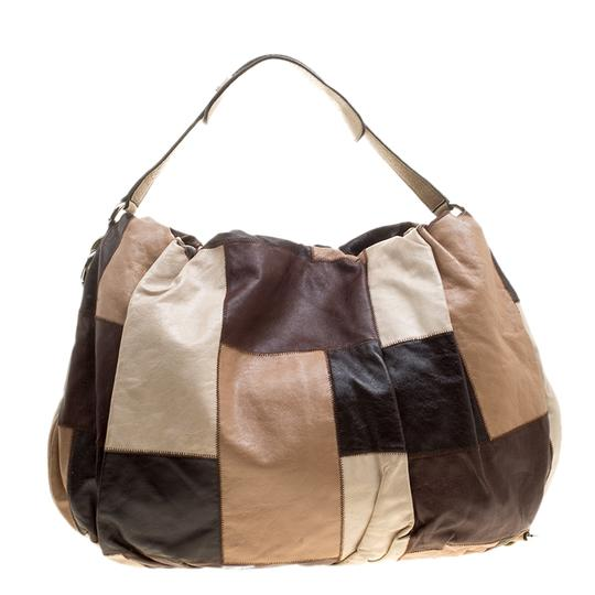Dolce&Gabbana Patchwork Leather Hobo Bag