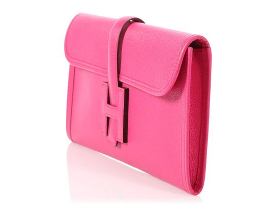 Hermès Hr.p0809.02 Chevre Rose New Pink Clutch