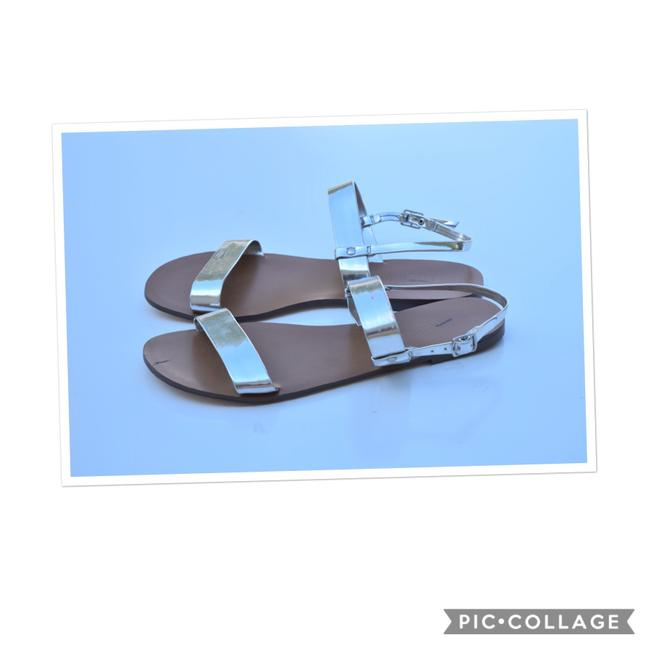 J.Crew Silver Metallic Gladiator Sandals Size US 9 Regular (M, B) J.Crew Silver Metallic Gladiator Sandals Size US 9 Regular (M, B) Image 1