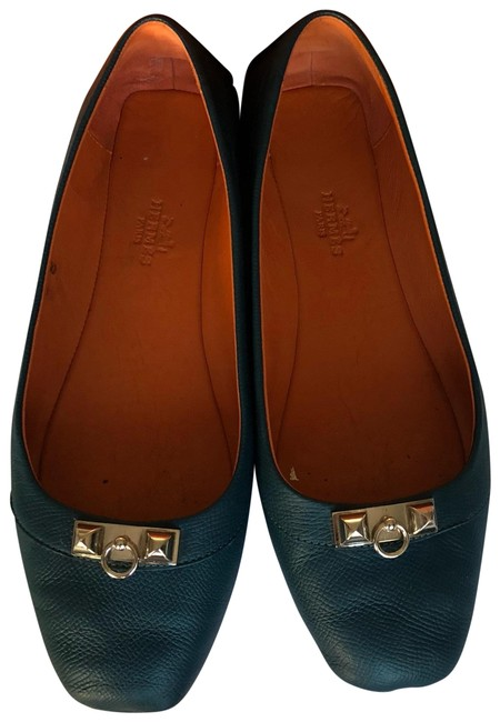 Hermès Blue Liberty Flats Size EU 38 (Approx. US 8) Regular (M, B) Image 1