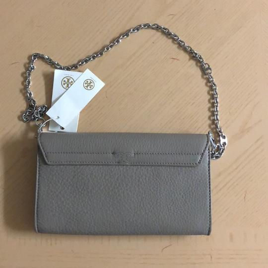 Tory Burch French Gray Clutch