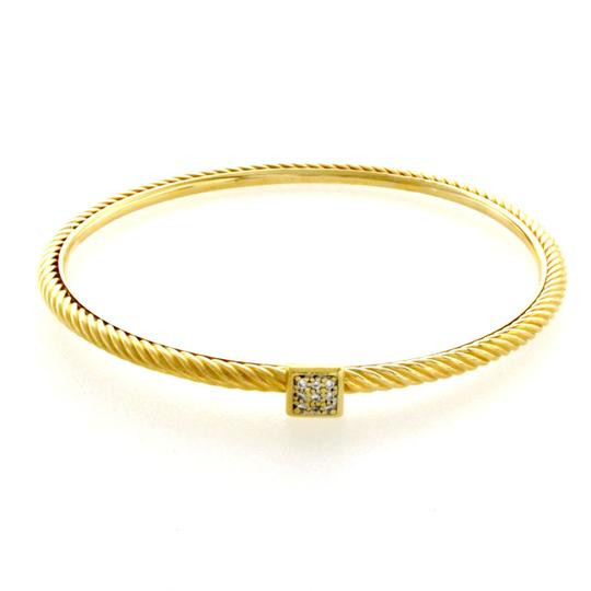 Preload https://img-static.tradesy.com/item/24016201/david-yurman-18k-gold-classic-cable-3-mm-diamonds-bangle-bracelet-0-0-540-540.jpg