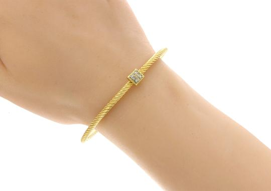 David Yurman DAVID YURMAN 18K Gold Classic Cable 3 mm Diamonds Bangle