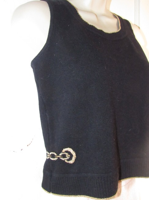St. John Dressy Or Casual Sleeveless Trim Excellent Condition Sweater