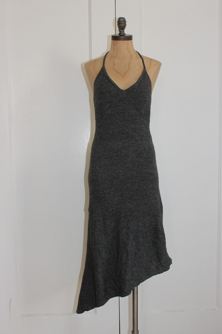 hazel short dress gray Asymmetric Sweater Halter Knit on Tradesy Image 4