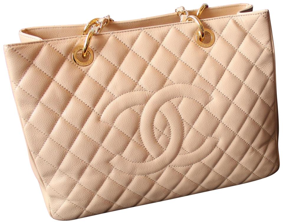 ce9bcd357bd0 Chanel Caviar Leather Handbag Gst Classic Satchel in Beige/Nude Image 0 ...