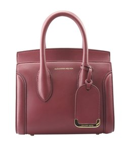 Alexander McQueen Leather Tote in BurgundyxRed
