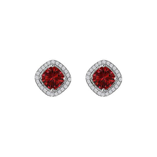 Preload https://img-static.tradesy.com/item/24016349/red-rhombus-style-cz-ruby-square-sterling-silver-earrings-0-0-540-540.jpg